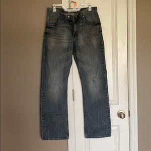 Men's bootcut blue jeans